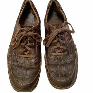 Clarks Brown Leather Lace-up Casual Shoe Sz 10.5